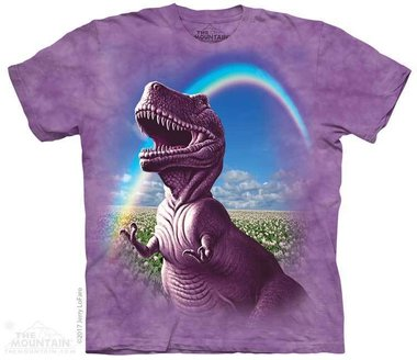 T-shirt Happiest T-rex (paars)