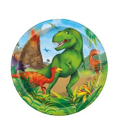 Bordjes (8x) taart 18 cm (Dinoworld Feest)