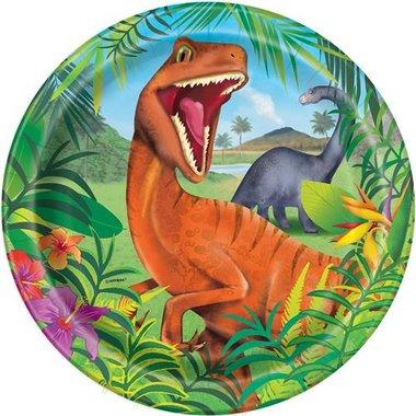 Bordjes (8x) 23 cm (Dinoworld Feest)
