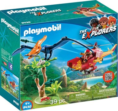 Helikopter met Pteranodon - Playmobil