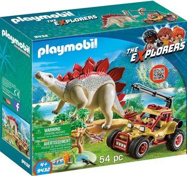 Explorersbuggy met Stegosaurus - Playmobil