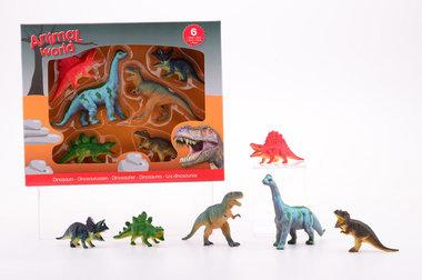 Dinosaurussen in doos