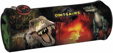 Dinosaurus etui (zwart/rood)