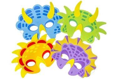 Dinosaurus maskers foam (4x)