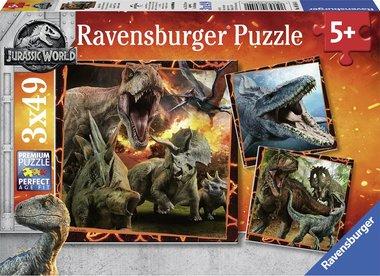 3 x 49 stukjes Jurassic World puzzel