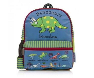 Dinosaur rugtas blauw (Medium) (26x34x12cm)