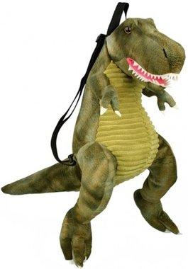 Rugtas (knuffel) T-rex (groen/stof)