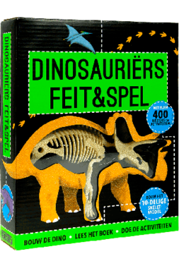 Speel en Spelletjes boek met Triceratops