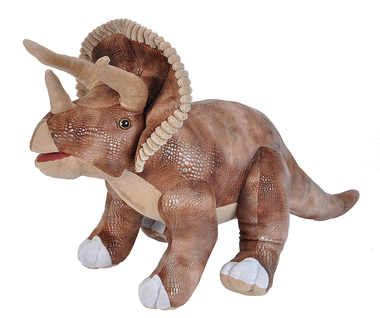 Triceratops knuffel (groot) lengte 65 cm