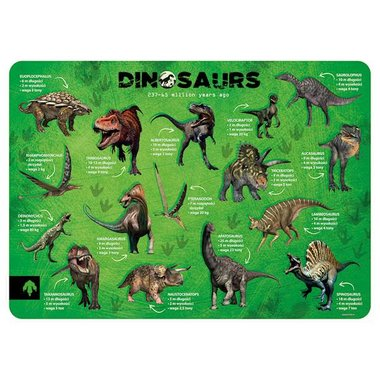(uitverkocht) Dinosaurus placemat (diverse)