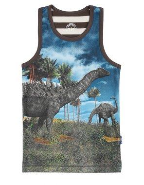 Dinosaurus hemd (blauw) Claesen's maat 140-146