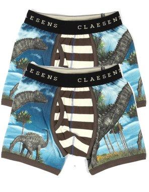 Dinosaurus onderbroeken (blauw) (2x) Claesen's