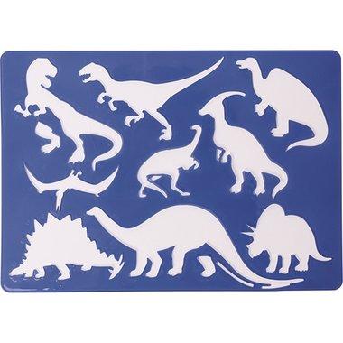 Dinosaurus sjabloon (blauw)