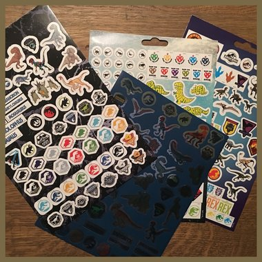 Jurassic World stickervellen (4x)