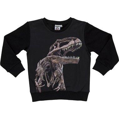 Dinosaurus sweater (zwart) T-rex Skelet