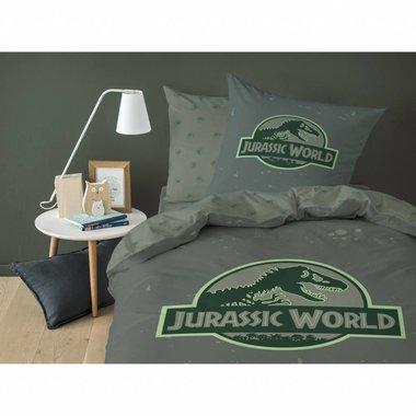 Jurassic World Dekbedovertrek (Groen) (140x200cm)