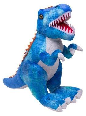 T-rex knuffel blauw (L48cm)