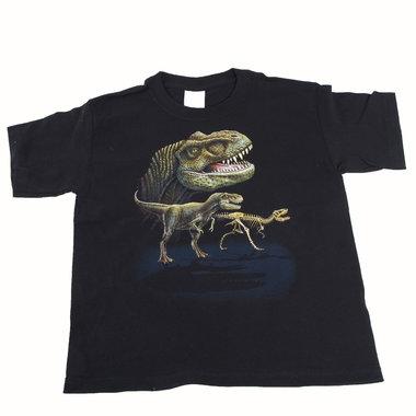 Dinosaurus shirt zwart (maat 140/146)