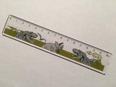 Dinosaurus liniaal (doorzichtig)