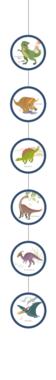 Hangslingers (4x) Happy Dinosaur