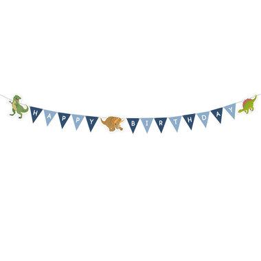 Weer leverbaar vanaf sept. 2019 Happy Birthday slinger (Happy Dinosaur)