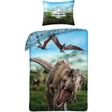 Jurassic World T-rex Dekbedovertrek (140x200cm)