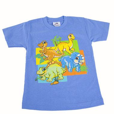 Dinosaurus shirt blauw (maat 104-110)