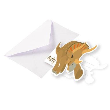 Uitnodigingen (8x) (Happy Dinosaur)