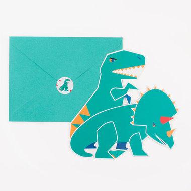 Uitnodigingen (8x) (Little dino's)