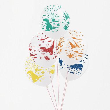 Ballonnen Dinosaurus (5x) (diverse kleuren)