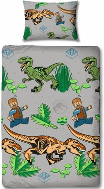 Lego & Dinosaurus Dekbedovertrek (135x200cm)