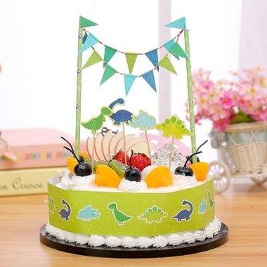 Dinosaurus taartdecoratie (taart/cake)