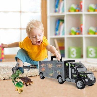 Dinosaurus Truck - auto met 12 dino's