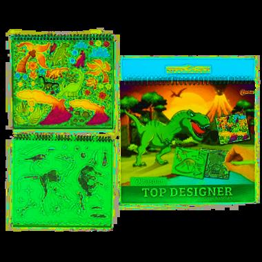 Dinosaurus kleur & sjabloonboek