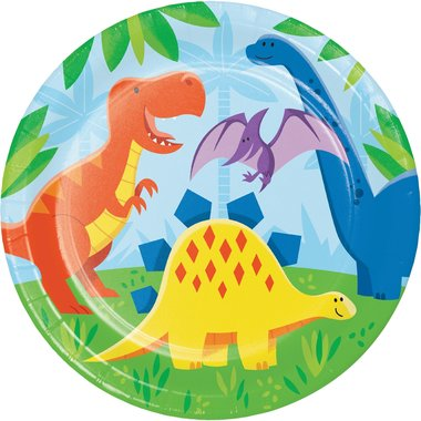 Bordjes (8x) 23 cm (Dinosaur Friends)