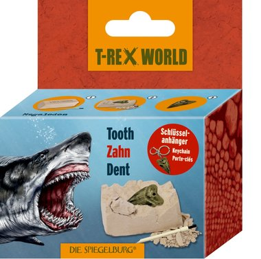 Dig it out: Megalodon tand (met sleutelhanger)