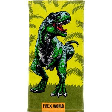 Magische T-rex World handdoek