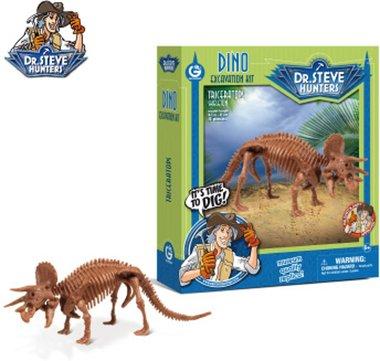 Triceratops opgravingsset - 21 cm lang