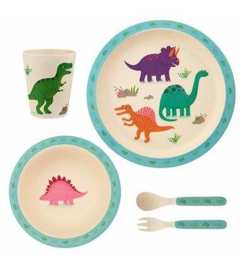 Bamboe eetset - dinosaurussen