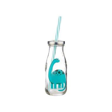 Diplodocus flesje (glas) met rietje 225 ml