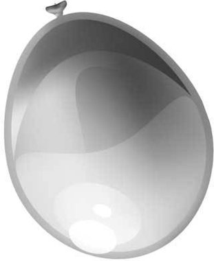Ballonnen (10x) (metallic zilver)