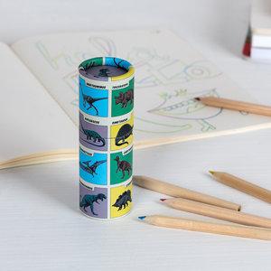 12 potloden in koker
