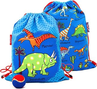 Dinosaurus - grappige dino's - (blauw) zwemtas/gymtas