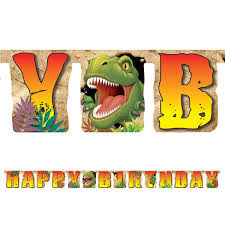 Happy Birthday slinger (T-rex Feest)