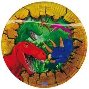 Bordjes (6x) taart 18 cm (Dinosaur Party)