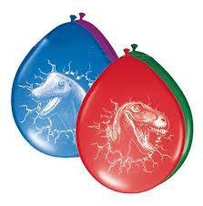 Dino ballonnen (6x)