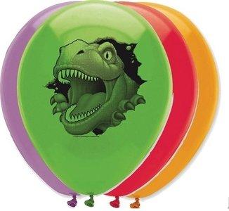 Ballonnen Dinosaurus (6x)