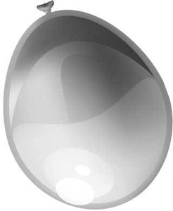 Metallic zilver ballon