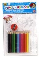 Kleurkaarten met potloden (groot)